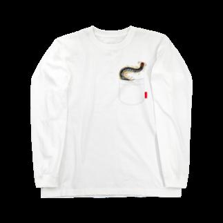 Drecome_Designのいたずらデザイン(ちょっとムカデ入ってますよ) Long sleeve T-shirts