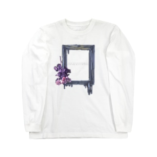 バラと額縁 Long sleeve T-shirts