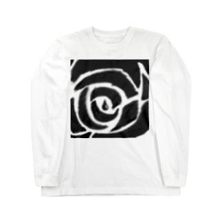 ボカシ薔薇 Long sleeve T-shirts