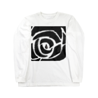sooingのボカシ薔薇 Long sleeve T-shirts