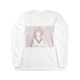 ミラーセルフィー女子 Long sleeve T-shirts