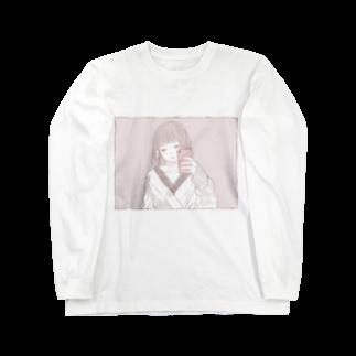 胡月のミラーセルフィー女子 Long sleeve T-shirts