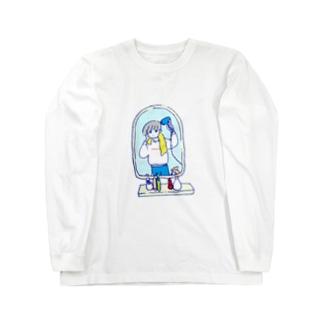 ドライヤータイム Long sleeve T-shirts