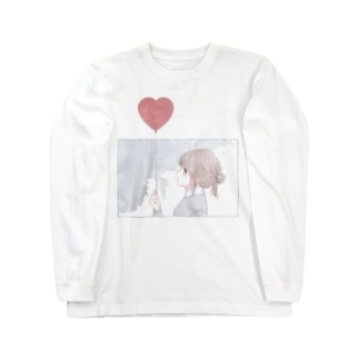 ハートの風船 Long sleeve T-shirts