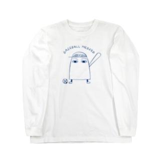 野球のメジェドさま Long sleeve T-shirts