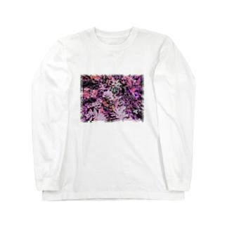 NEOnPINK_ねお_ Long sleeve T-shirts