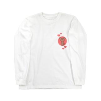 ぷりてぃーな二重アゴくまさん Long sleeve T-shirts