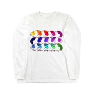 レインボーモルモット軍団 Long sleeve T-shirts