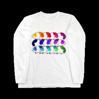 nins・にんずのレインボーモルモット軍団 Long sleeve T-shirts