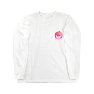 ©️ゆるマイ  りんご猫 Long sleeve T-shirts