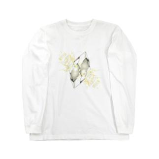 フェイクディガー「光の白い宝石」 Long sleeve T-shirts