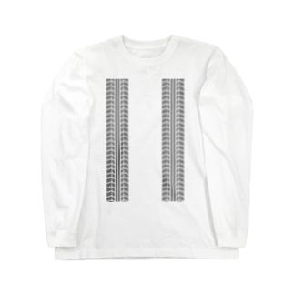 タイヤの跡 Long sleeve T-shirts