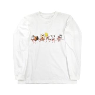 リボンとモルモット Long sleeve T-shirts