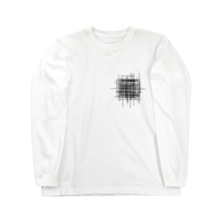 ムシャクシャの黒 Long sleeve T-shirts