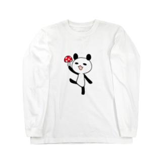 きのこパンダ Long sleeve T-shirts