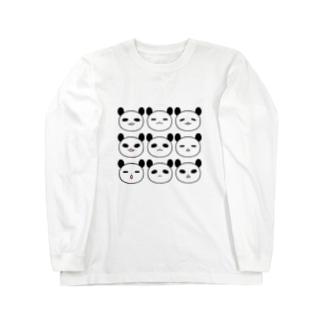 表情パンダ Long sleeve T-shirts