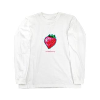いちごグッズ Long sleeve T-shirts