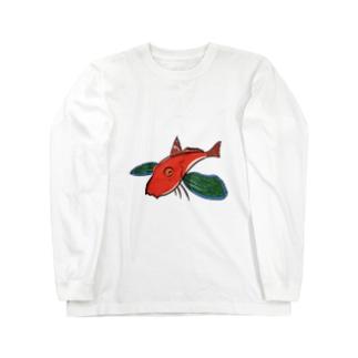 空飛ぶホウボウ Long sleeve T-shirts