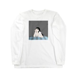 黒髪ロングのイケてる彼女 Long sleeve T-shirts