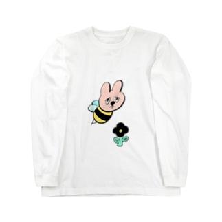 ウサギバチくん Long sleeve T-shirts