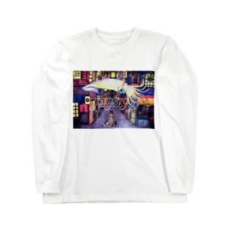 夜夜夜 Long sleeve T-shirts