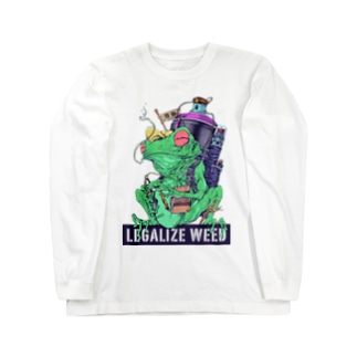 LEGALIZE IT FROG (SH11NA WORKS) Long sleeve T-shirts