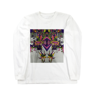 冬虫夏草洋品店の色付き口だけの人 Long sleeve T-shirts