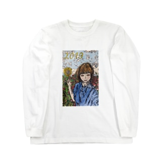 お花畑の女の子 Long sleeve T-shirts