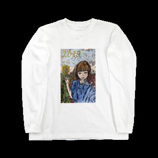 Yuki Ikedaのお花畑の女の子 Long sleeve T-shirts