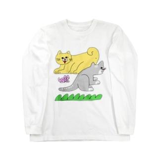 動物の家族 Long sleeve T-shirts