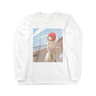 海を振り返る Long sleeve T-shirts