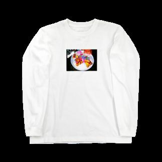 waimaiの異国の皿と果実 Long sleeve T-shirts