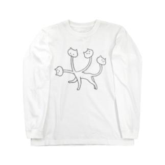 くびネッコ(喜怒哀楽) Long sleeve T-shirts