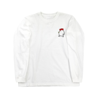 にわとりとたまご Long sleeve T-shirts