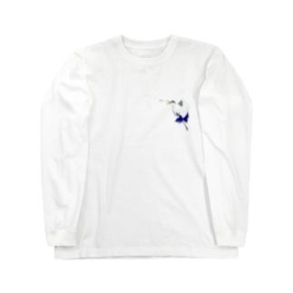 アオサギさん Long sleeve T-shirts