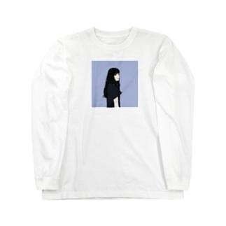 黒髪のイケてる彼女 Long sleeve T-shirts