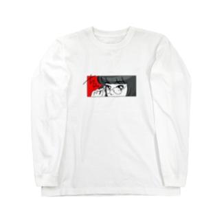 ちらっ Long sleeve T-shirts