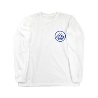 おすましねこブルー Long sleeve T-shirts