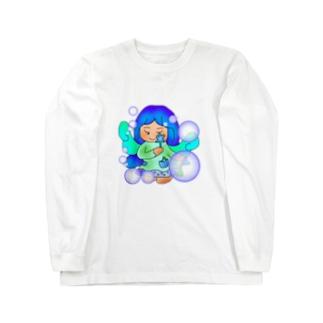 ひんやりの妖精さん Long sleeve T-shirts