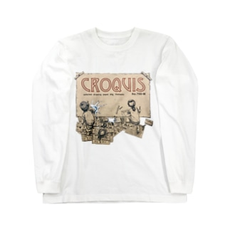 クロッキー帳 Long sleeve T-shirts
