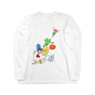 そこほれ!チャコフさん一周年記念イラスト Long sleeve T-shirts