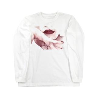 頬杖 Long sleeve T-shirts