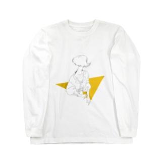 Yellow. Long sleeve T-shirts