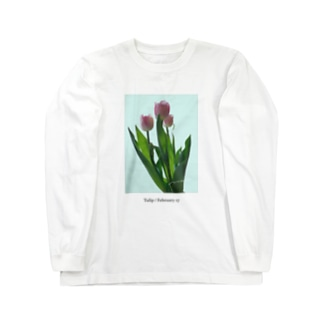 Tulip / pink blue Long sleeve T-shirts