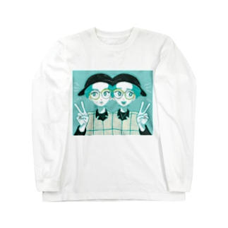 アシメトリーTWINS Long sleeve T-shirts