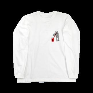 花くまゆうさくの血液型をさりげなく申告(B) Long sleeve T-shirts