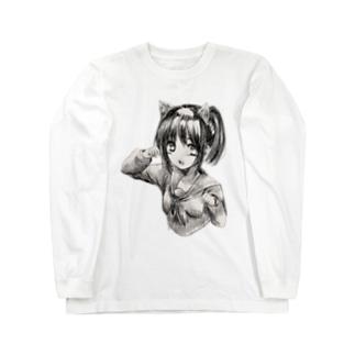 猫耳少女 Long sleeve T-shirts