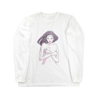 寝起きお姉さん Long sleeve T-shirts