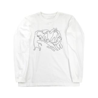 ネケチェン・アウトライン Long sleeve T-shirts
