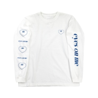 e_o_m hato ブルー Long sleeve T-shirts